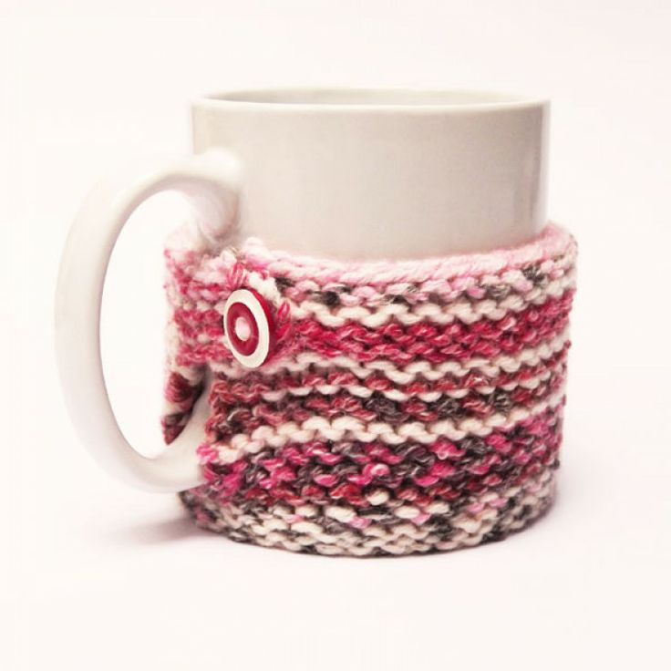 Hand knitted mug cosy in pink far isle. Perfect gift or stocking filler at christmas  Made in West Yorkshire, UK  http://www.madecloser.co.uk/christmas/gifts-under20/hand-knitted-fair-isle-mug-cosy  #ukmade #buylocal #gifts