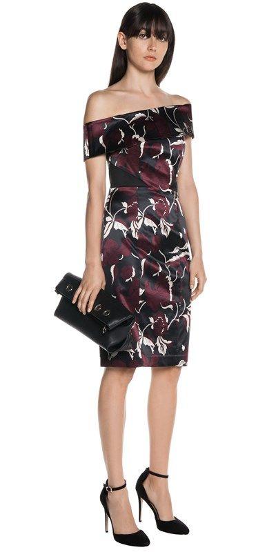 Dresses  | Floral Satin Spliced Dress