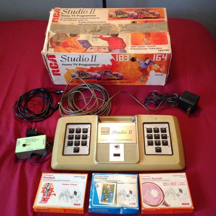 Vintage RCA Studio II - Home TV Programmer Game System Console 1976 18V100  | eBay