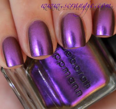 Private Dancer- Deborah Lippmann Mirrored Chrome Nail Lacquer Collection Summer 2012 (click through to see swatches! amazing!)