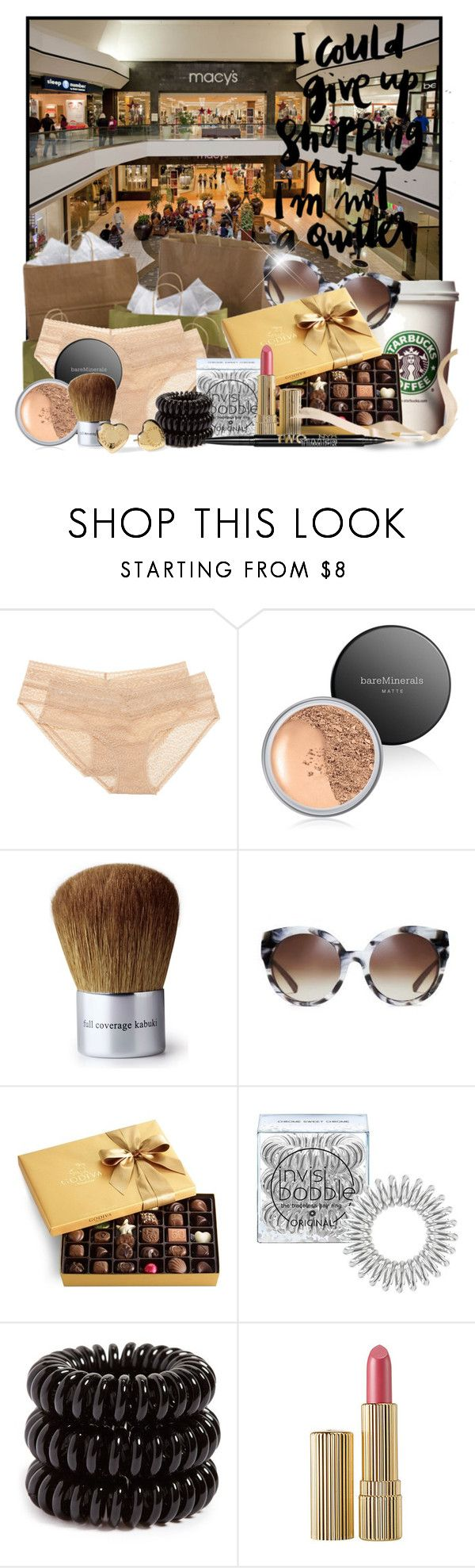 """Things I love about home: Shopping"" by doozer ❤ liked on Polyvore featuring Calvin Klein Underwear, Bare Escentuals, Michael Kors, Godiva, Invisibobble, Marc by Marc Jacobs, Estée Lauder and Charlotte Russe"