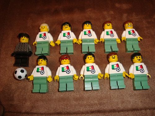 Lego Soccer Team Mexico National Men's Minifigs Player Lot 11 Sand Green | eBay