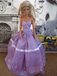Barbie Gown In Pale Purple