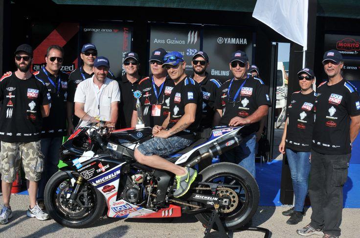 Superbmotos Racing Team after race photo...