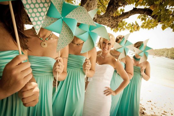 Wedding pinwheels; you can't do this with flowers Pinwheel Wedding Party Set by Rule42  custom designed by Rule42
