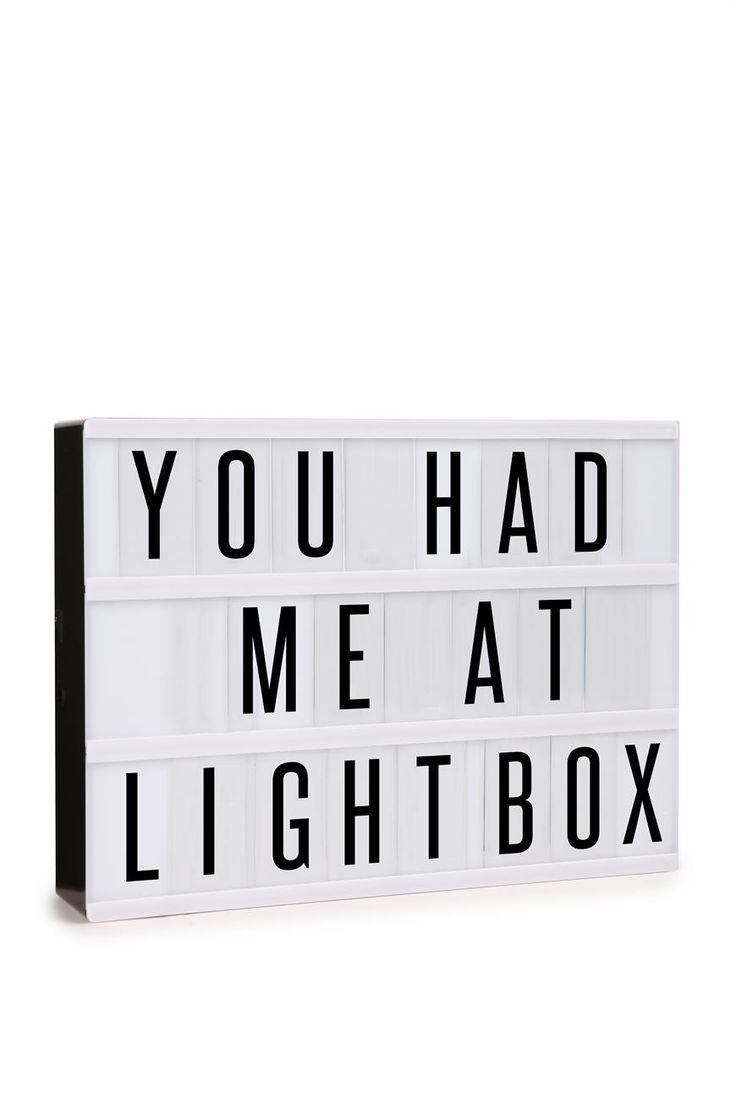 light box #typoshop #lights #lightbox