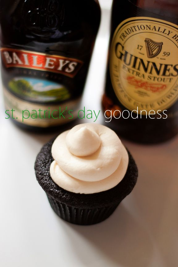 St. Patty's Day Chocolate Whiskey and Beer Cupcakes - I'm thinking a ...