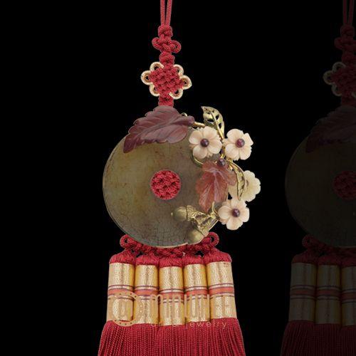 장옥정, 엔틱옥 빨강색 노리개 - 고품격 수공예 주얼리 민휘아트주얼리 MINWHEE ART JEWELRY