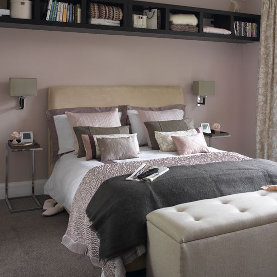 Dusky Pink And Grey Bedroom
