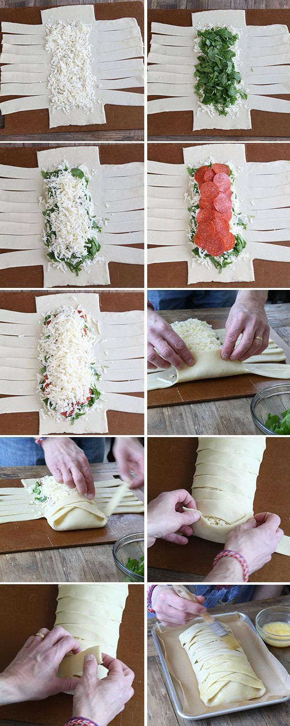 Step by Step Directions for Braided Stuffed Gluten Free Pizza