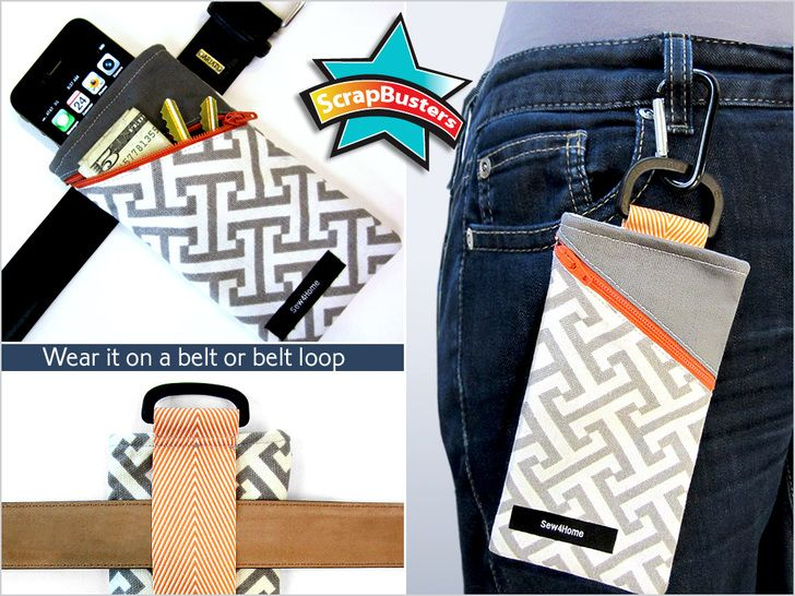 ScrapBusters: Belt Pouch Holds Phone & More   Sew4Home