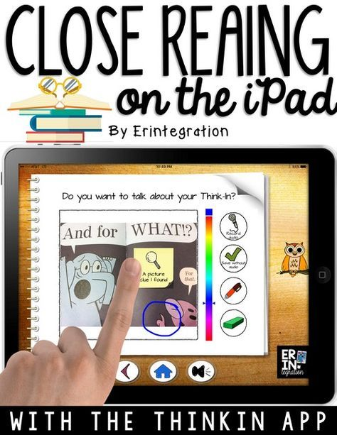 Check out this close reading iPad app specifically designed for K-2 students to use independently. Paperless close reading for elementary students. on the iPad.