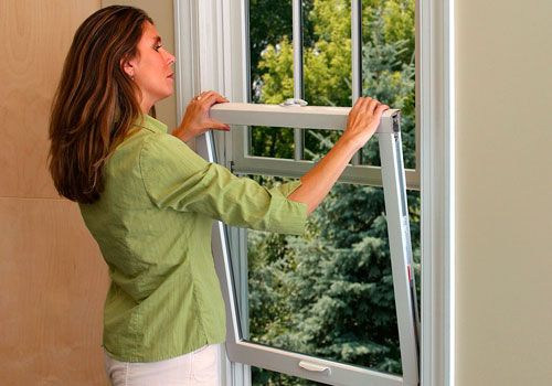 Renewal by Andersen replacement windows open from the inside for easy cleaning.