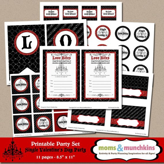 Anti-Valentines Day Party Printables