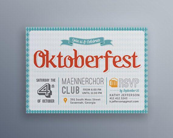 Oktoberfest Invitations // DIY Oktoberfest by JocelynCocainDesigns
