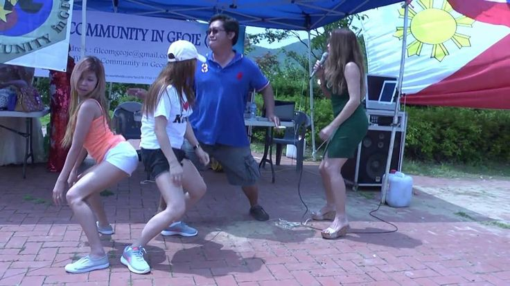 Mary Ann Van Der Horst — Dancing with other Filipina girls in Korea
