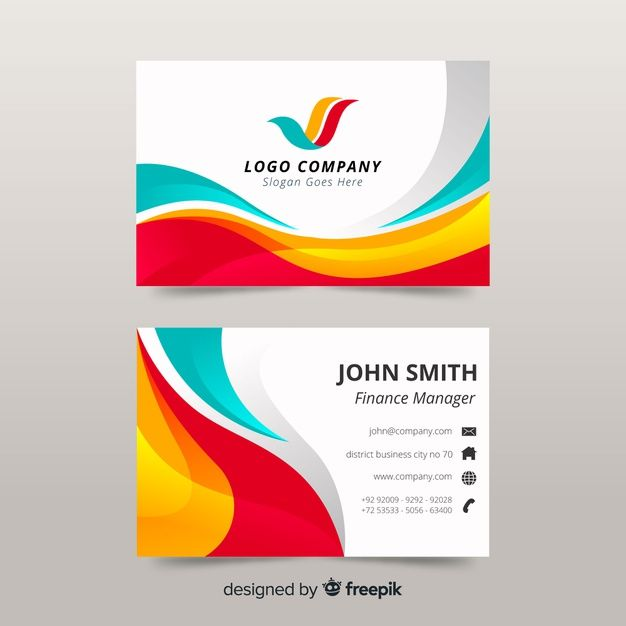 Colorful Business Card Template Free Vector Freepik Freevector Logo Business C Colorful Business Card Free Business Card Templates Business Card Template