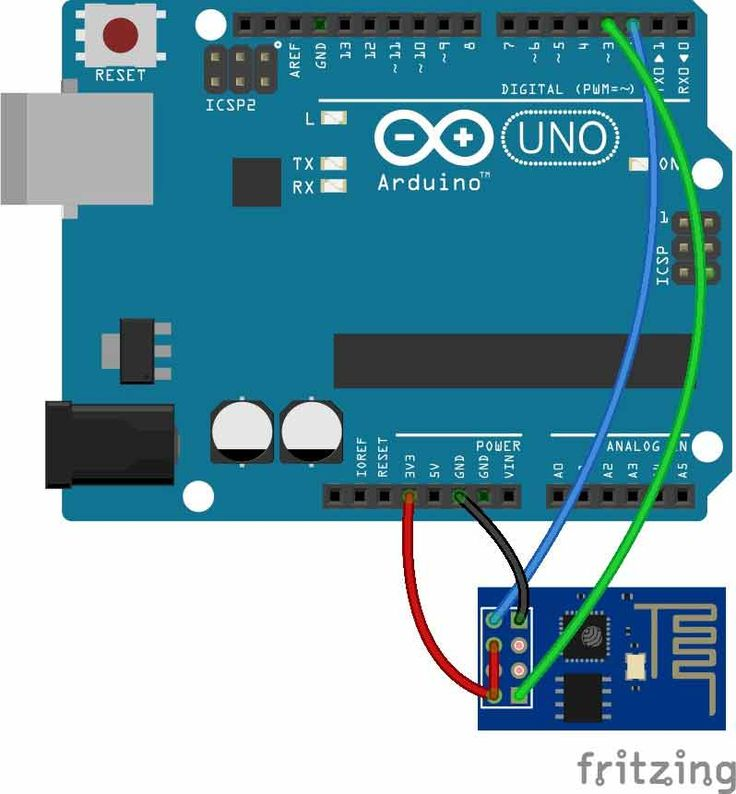 Send data from arduino to webpage Circuit Diagram