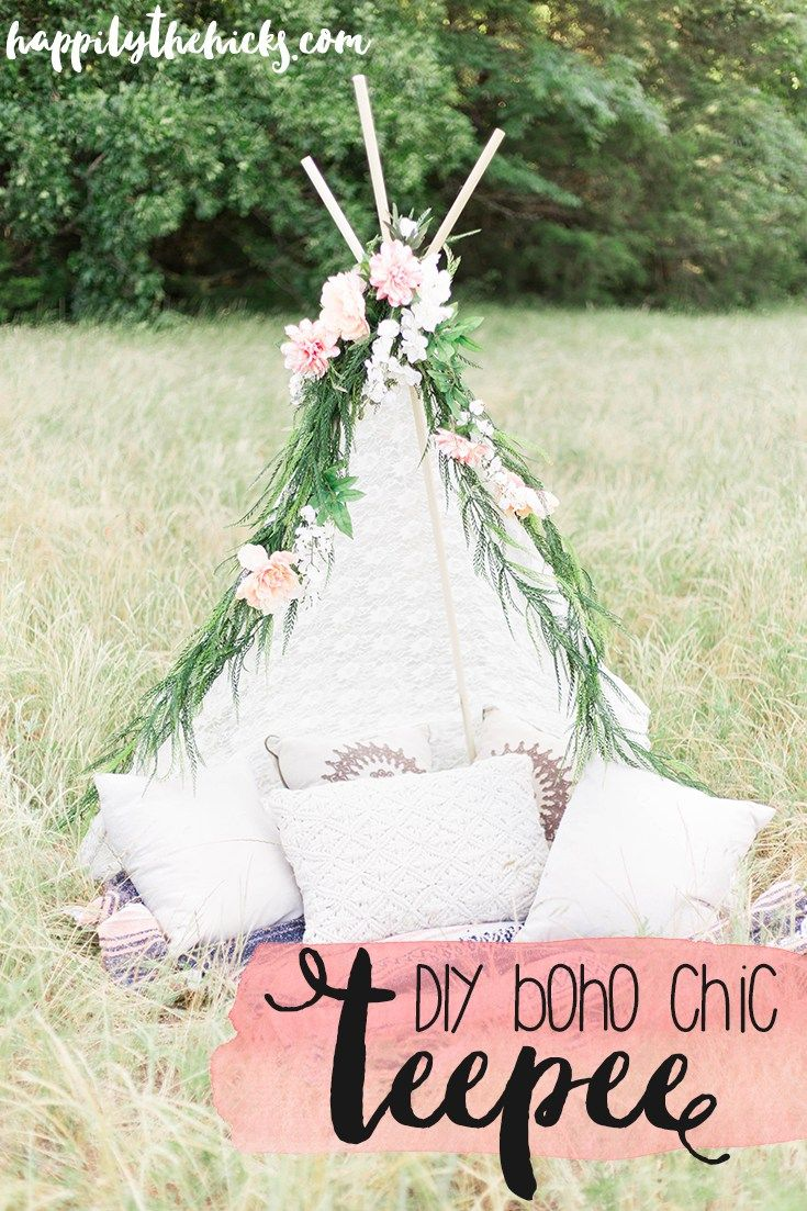 DIY Boho Chic TeePee | read more at happilythehicks.com