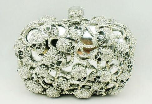Crystal skull clutch by Wild Couture
