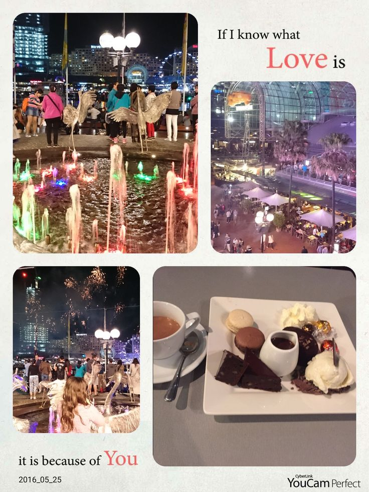 Enjoying desserts at Lindt Australia, Cockle Bay Wharf while enjoying a free spectacular fireworks show over the bay. #DarlingHarbour