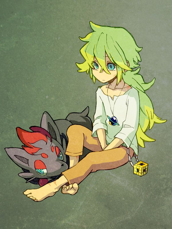 Tags: Anime, Pokémon, Zorua, N (Pokémon), Pixiv Id 11911