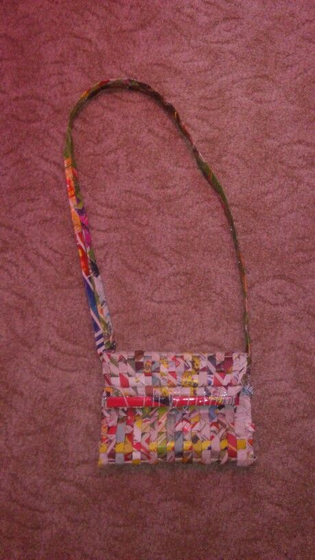 A bag made of newspaper