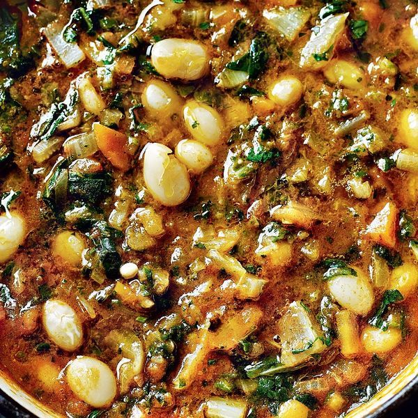 The ideal soup recipe for a cold day. This minestrone verde from My Simple Italian features a medley of celery, Swiss chard, borlotti beans and fresh basil.