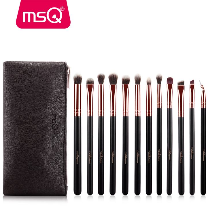 Price-4$     MSQ 12pcs Eyeshadow Makeup Brushes Set Pro Rose Gold Eye Shadow Blending Make Up Brushes Soft Synthetic Hair For Beauty