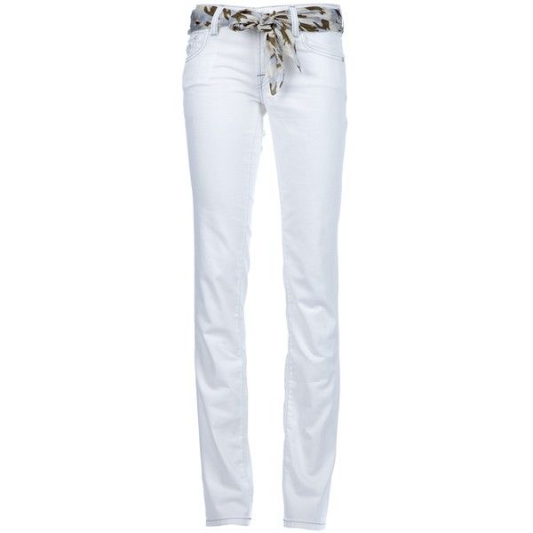 JACOB COHEN bootcut jean (410 BRL) ❤ liked on Polyvore featuring jeans, pants, white jeans, embroidery jeans, embroidered jeans, white bootcut jeans, boot-cut jeans and 5 pocket jeans