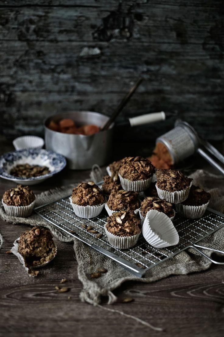 Pratos e Travessas | Muffins de espelta, abóbora, alho francês e queijo Idiazabal # Spelt, pumpkin, leeks and Idiazabal cheese muffins