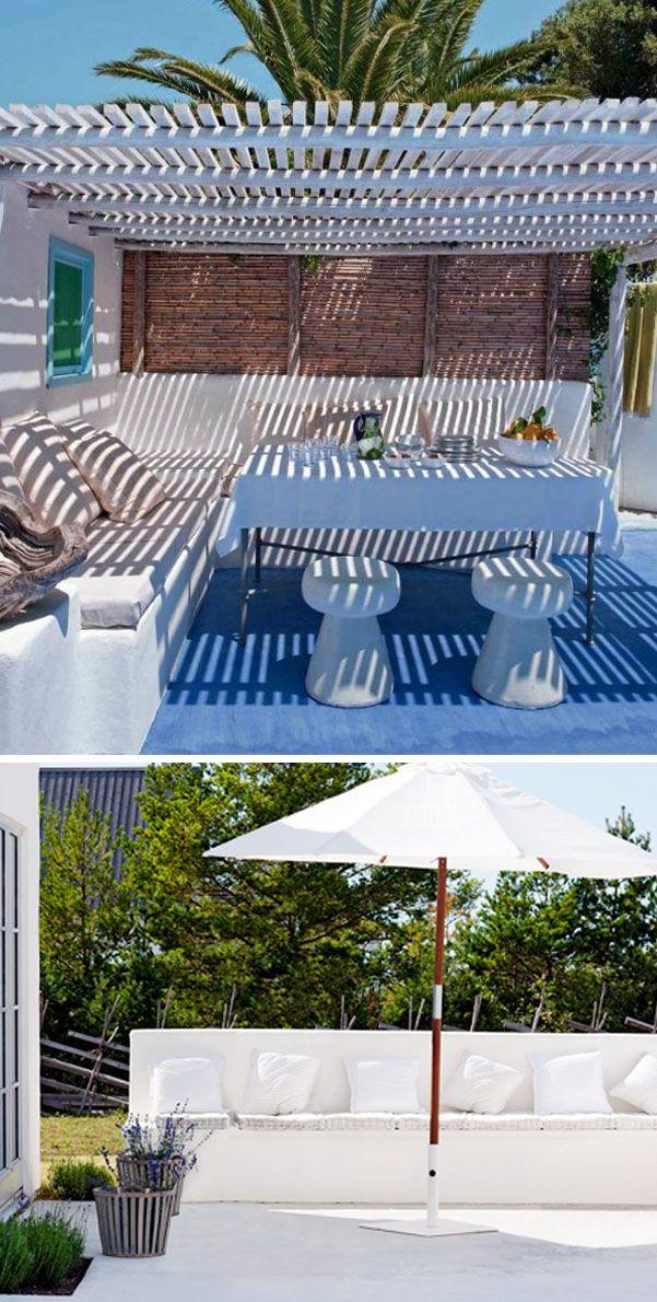 Las 25 mejores ideas sobre porches de obra en pinterest for Bancos de jardin usados