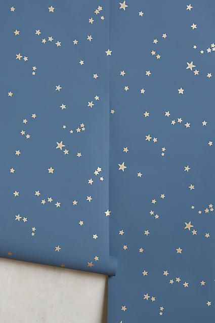 Wallpaper ceiling in hall bathroom  - Wish Upon A Star Wallpaper