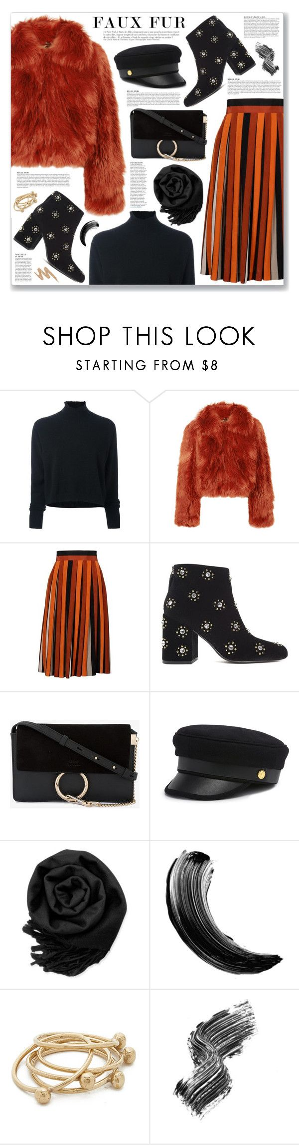 """""""Wow Factor: Faux Fur"""" by myduza-and-koteczka ❤ liked on Polyvore featuring Le Kasha, Maison Margiela, Givenchy, Senso, Anja, Chloé, Henri Bendel, Gearonic, Maybelline and Jacqueline Rose"""