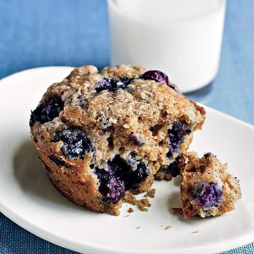 Blueberry and Oatmeal Muffins Recipe | CookingLight.com