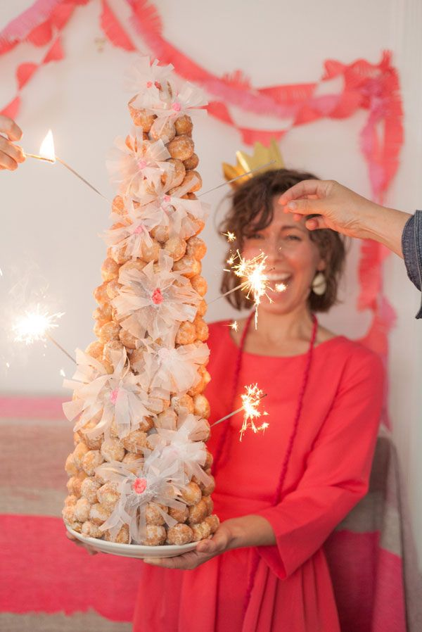 Donut Hole Croquembouche DIY   Oh Happy Day!