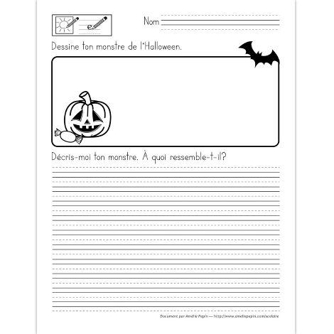 Description d'un monstre de l'Halloween