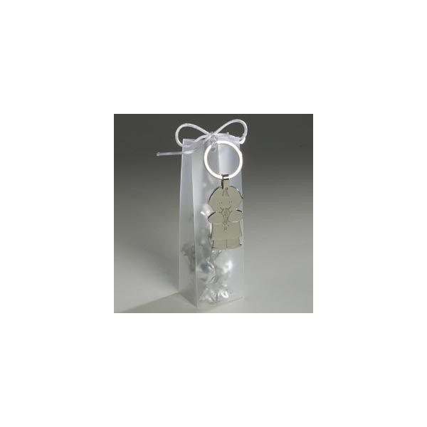 Ideale perla cresima o il battesimo del tuo bambino     Portachiavi metallo boy communion con 9 caramelle alla frutta inclusi come in foto