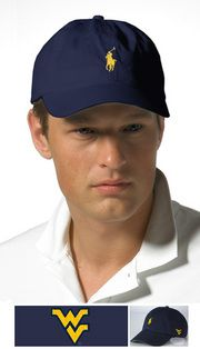 This gold and blue Ralph Lauren cap is perfect for spring.  It features Flying WV logo on the side.  Check it out on the WVU Bookstore site.