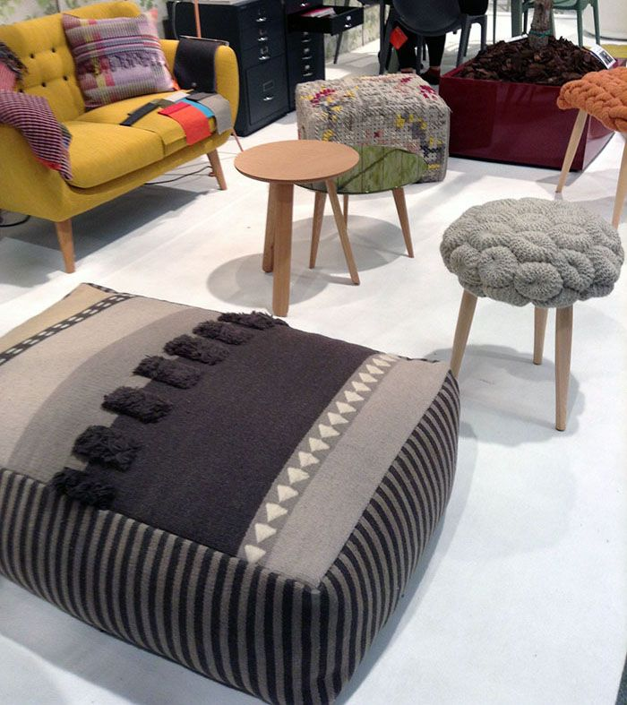 our Alexandra and Knitted stools at 100% Hotel Show