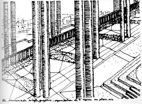 Téte-Défense  Parigi 1982 Architettura per i Servizi non realizzato