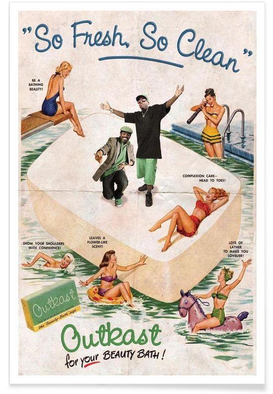So Fresh, So Clean! als Premium Poster von Ads Libitum | JUNIQE