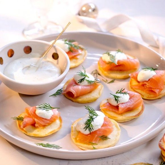 25 best ideas about smoked salmon blinis on pinterest for Salmon canape ideas