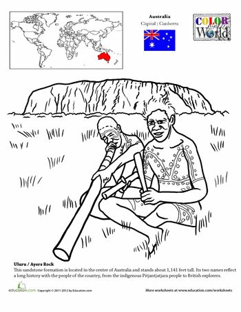 Worksheets: Color the World! Ayers Rock