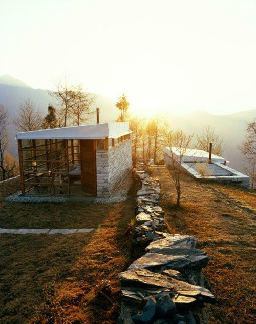 x: Dreams Home, Dreams Houses, Modern Cabins, Stones Wall, Dream House, Architecture, Mountain Home, Dreamy Places, Mountain Houses
