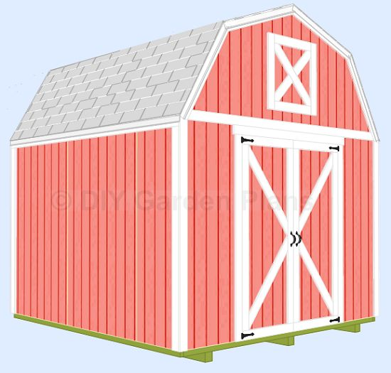 10x10 gambrel shed with loft sheds greenhouses for Free gambrel shed plans with loft