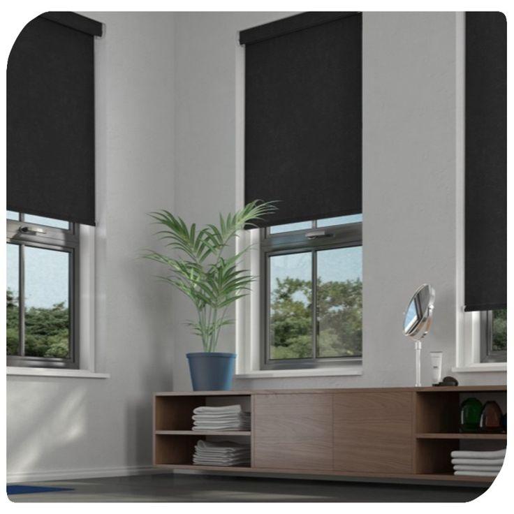 Black Roller Shades For Windows : Best black blinds ideas on pinterest roller
