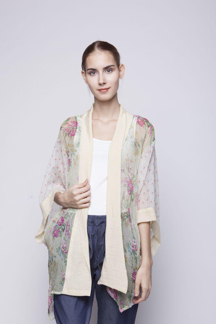 Belle Kimono Purple & Blue Flower   Rp 221.250