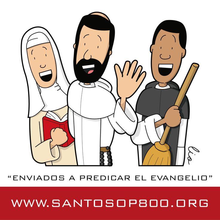 Linea de tiempo de Santos Dominicos, algunos de los miles de santos que la Orden de Predicadores desplegó por todo el mundo.