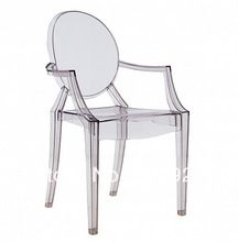 Cadeiras de jantar de plástico cadeira Louis Santo clara 2PCS cadeira de…